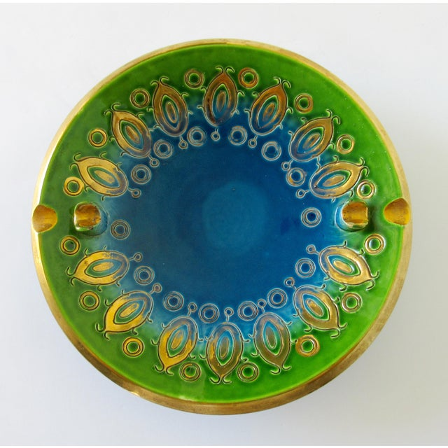 Vintage Mid-Century Aldo Londi for Bitossi Blue Ashtray, or Catchall Dish For Sale - Image 13 of 13