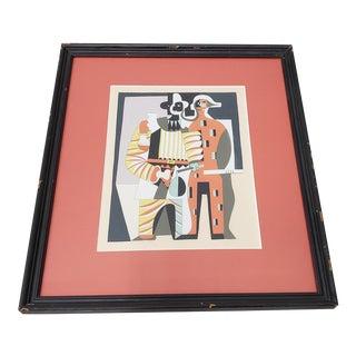 "Vintage ""Pierrot Et Harlequin"" Original Pochoir C.1930s For Sale"