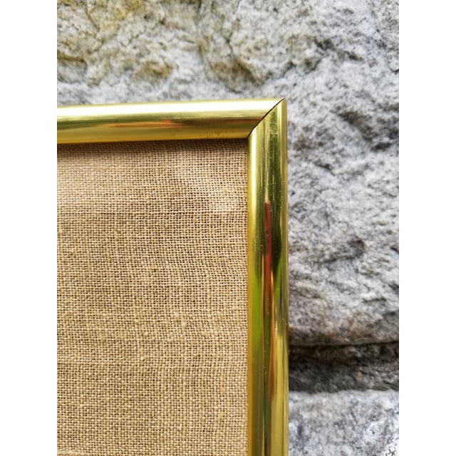 Mid-Century Modern Crewel Embroidered Wall Hanging For Sale - Image 10 of 11