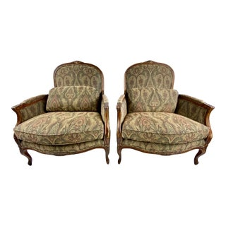 Lexington Home Brands French Provincial Style Lounge Chairs - a Pair For Sale