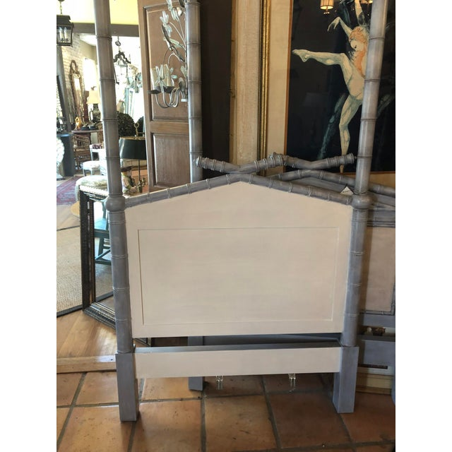 Twin Faux Bamboo Headboards - Pair For Sale - Image 4 of 6