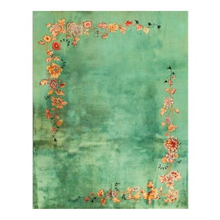 """Vintage Chinese Art Deco Rug 9'0"""" X 11'10"""" For Sale"""