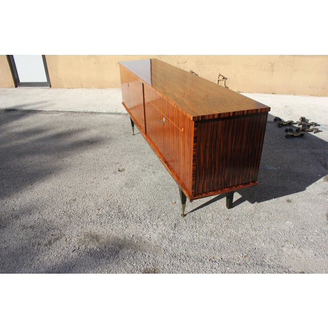 1940sArt Deco Exotic Macassar Ebony Sideboard / Buffet For Sale - Image 12 of 13