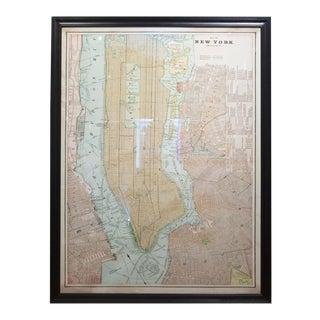 Monumental Timothy Oulton Artline Framed New York City Map For Sale