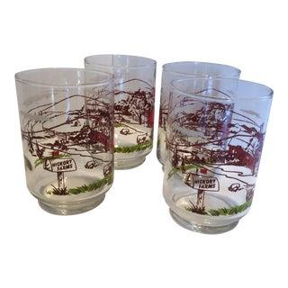 Vintage Hickory Farms Cocktail or Juice Glasses - Set of 4 For Sale