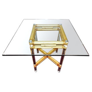 1970 Karl Springer Mid-Century Lucite Coffee Table For Sale