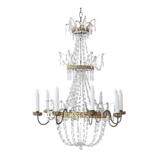 Neoclassical Italian Gilt Chandelier For Sale