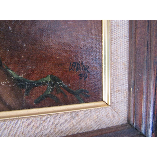 Acrylic Rare Abstract by Harold A. Laynor 1939 Acrylic on Masonite. For Sale - Image 7 of 8