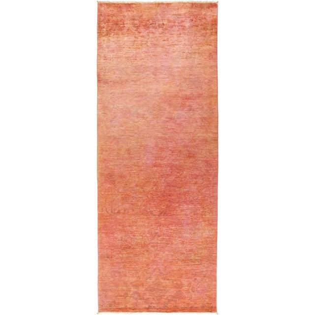 "Vita, Coral Vibrance Area Rug - 4' 0"" X 10' 4"" For Sale - Image 4 of 4"