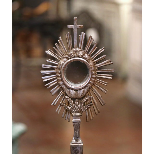 """Make an old world statement in your home with this important, antique """"ostensoir,"""" (or monstrance); crafted in France,..."""