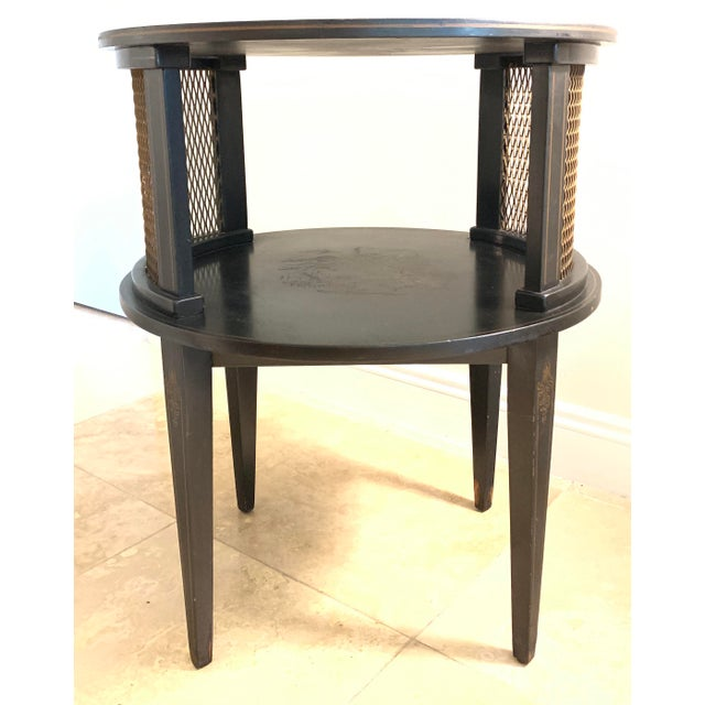 Asian 1930s Signed Katherine Henick Hand-Painted Chinoiserie Side Table For Sale - Image 3 of 13