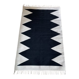 Mexican Aztec Inspired Rug - 4′ × 6′ For Sale