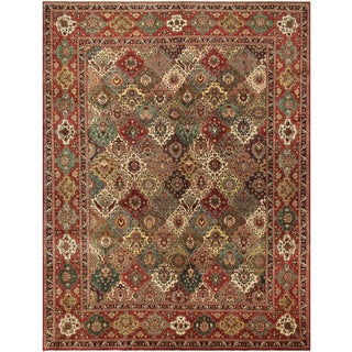 Persian Rug Sharda Multicolored & Red Wool Rug - 9'11 X 13'1 For Sale