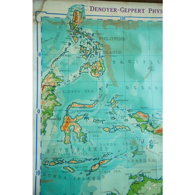 Vintage Pull Down Map Of Australia And Phillipines - Image 3 of 6