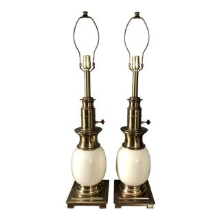 Vintage Stiffel Ostrich Egg Table Lamps- a Pair