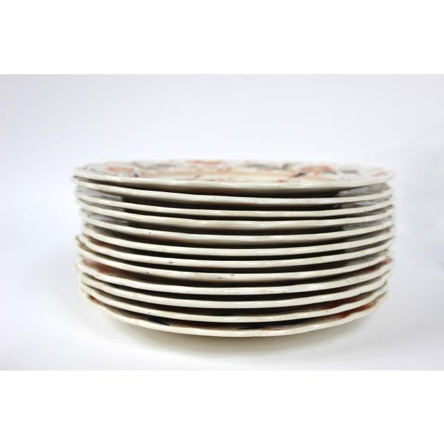 Mid 19th Century 19th Century English Imari Dessert/ Salad Plates - Set of 12 For Sale - Image 5 of 8