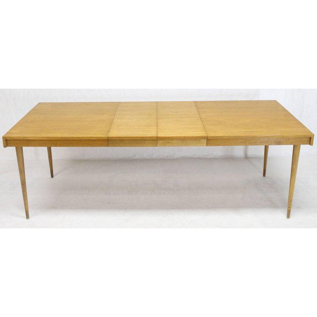 Edmond J. Spence Swedish Blond Birch Dining Table W/ Two Extension Leafs For Sale - Image 9 of 11