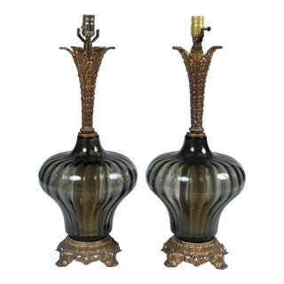 1940's Italian Venetian Lamps - a Pair For Sale