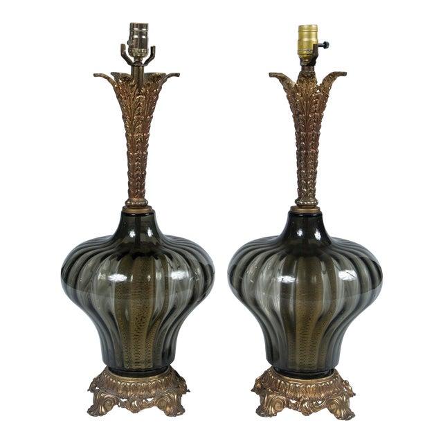 1940's Italian Venetian Lamps - a Pair For Sale