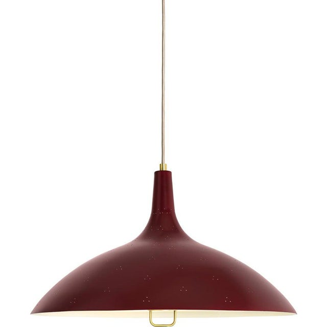 Paavo Tynell '1965' Pendant Lamp in Red For Sale - Image 10 of 10