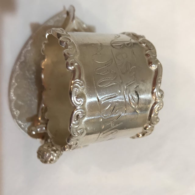 Victorian Figural Silver Plate Napkin Ring For Sale In Austin - Image 6 of 7