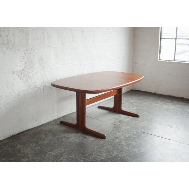1960s Mid-Century Modern Long Teak Dining Table For Sale - Image 4 of 6