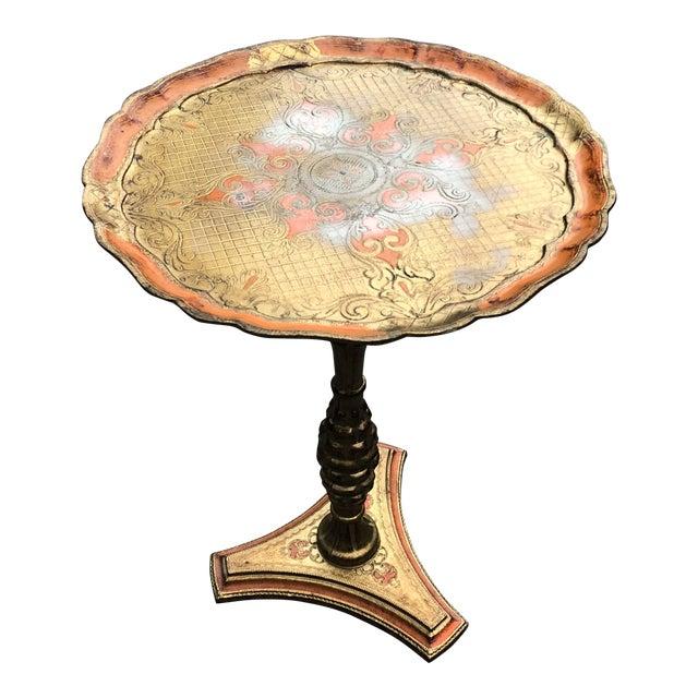 1940s Vintage Florentine Gold Gilt Pedestal Table For Sale