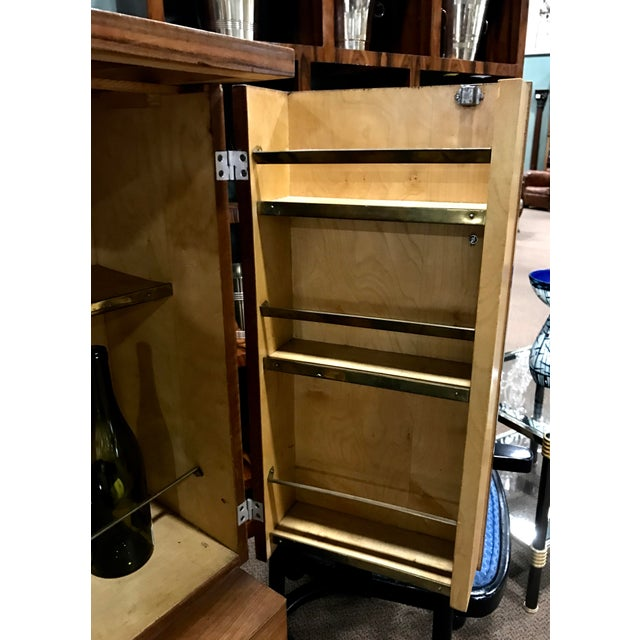Art Deco Wooden Cabinet on Metal Stand - Image 7 of 9