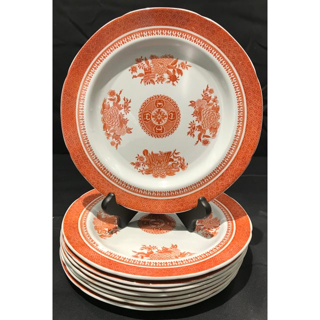 Copeland 1950s Coral Copeland Spode Fitzhugh Plates 3 Piece Service for 8 - Set of 26 For Sale - Image 4 of 12