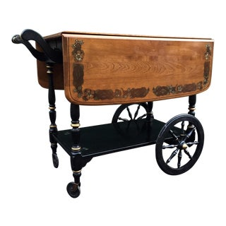Ethan Allen Hitchcock Rolling Bar Cart