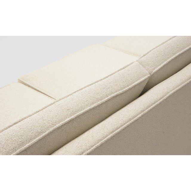 Textile Sectional Sofa, Five-Seat, Two-Piece, Even Arm, Off White, Restored, Excellent For Sale - Image 7 of 8