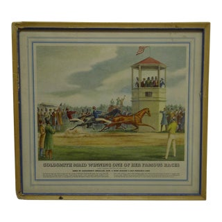 "Framed Original ""Goldsmith Maid Winning One of Her Famous Races"" Print For Sale"