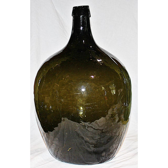 Green Demijohn Blown Bottle - Image 2 of 7