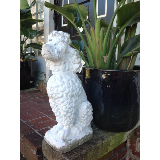 Vintage White Poodle Statue - Image 3 of 4