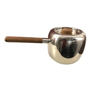 """1960's Covered Stainless and Teak Handle Pot by """"Opa Finland For Sale"""