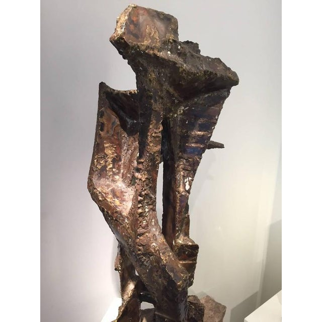 Constantin Andreou Welded Brass Sculpture For Sale - Image 6 of 10