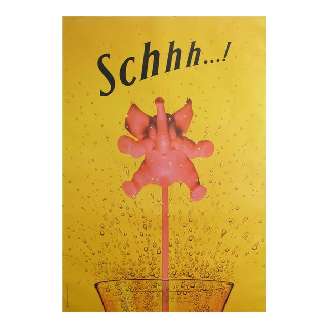 1995 Schweppes Advertising Poster, Schhh...! Pink Elephant - Image 1 of 4