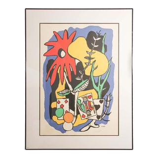 Fernand Leger The King of Heart, Signed and Numbered 284/300 Lithograph For Sale