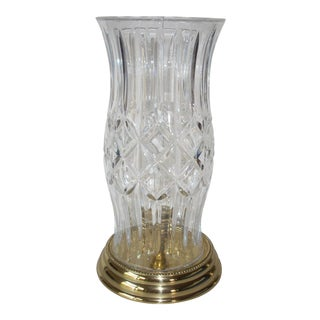 Waterford Crystal Hurricane Lamp For Sale
