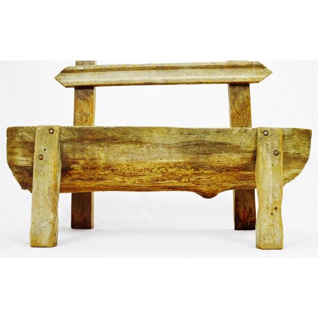 Antique Primitive Log Bench - Image 4 of 10