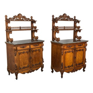 19th Century Louis XV Style Buffets or Sideboards - a Pair For Sale
