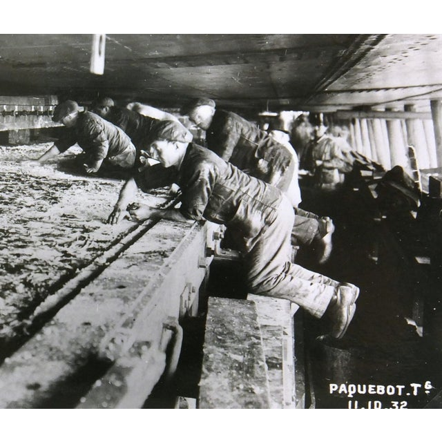 Vintage Photograph Workers on Ship, 1932 - Image 2 of 3