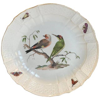 18th Century Meissen Ornithological Charger For Sale
