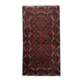 Tribal Hand Knotted Rug- 3′7″ × 6′8″ For Sale