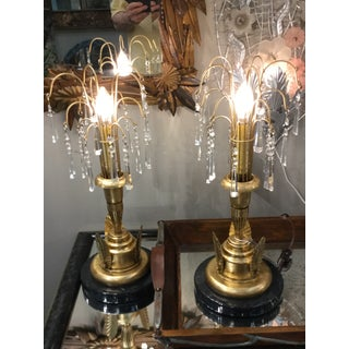 Deco Style Waterfall Table Lamps - a Pair Preview