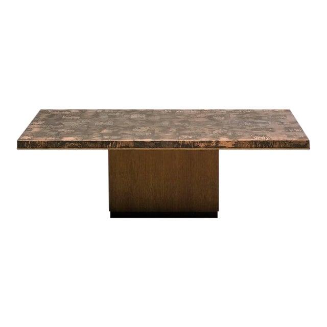 Brass Coffee Table by Illum Wikkelsø For Sale
