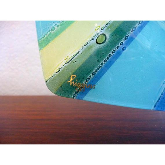 Higgins Fused Glass Tray & Bowl - A Pair For Sale - Image 5 of 11