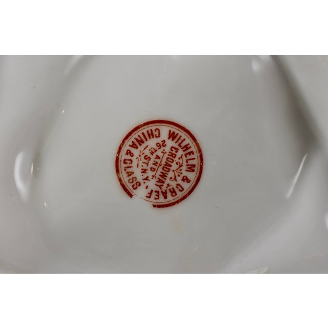 Ceramic Porcelain Half Moon Pink Shell on Cream & Gilded Oyster Plate For Sale - Image 7 of 9