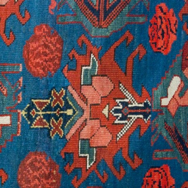 "Antique Seyhur Carpet - 3'6"" x 9'6"" For Sale - Image 4 of 4"