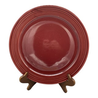 1950s Bauer's Monterey Burgundy Chop Plate For Sale